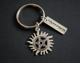 Mrs Winchester Supernatural brothers Keychain Keyring