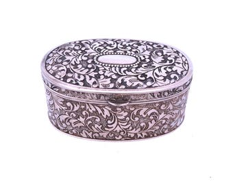 Silver Plated Jewellery Box Dieu Et Mon Droit Jewellery