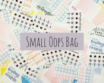 Small Oops Bag || Discounted Stickers for Planners, Journals and More!