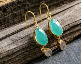 925 Sterling Silver Earrings Semi-precious Stone Drop Earrings For Women Jewelry