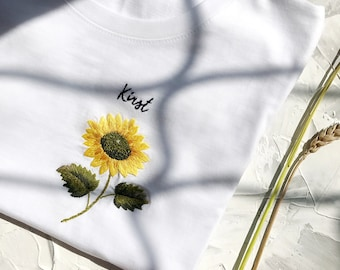 Sunflower Botanical Art Shirt