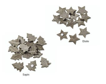 Craft Brown 2.5 cm (Pack of 24 pieces)