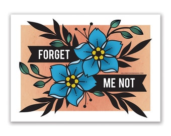 Forget Me Not // 5x7 Digital Print