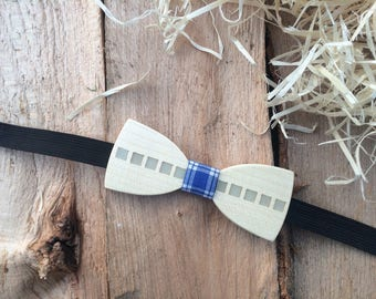 Unique Glowing in The Dark Wooden Bow Tie Blue Design / Gift For Him / Wedding Wood Bowtie / Wooden Bowtie / Mens Bow Tie - 100% Quality