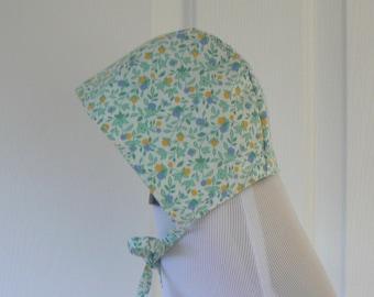 0/3 Month Bonnet, Modern Baby Bonnet, Brimless Baby Bonnet, Easter Bonnet Reversible Bonnet