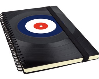 Blank Journal | Writing Notebook made from Record - We are The Mods - Gift for Girlfriend - Music Gift