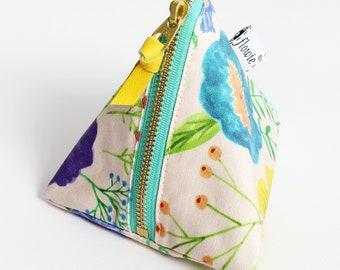 Triangle zipper pouch, Charlotte