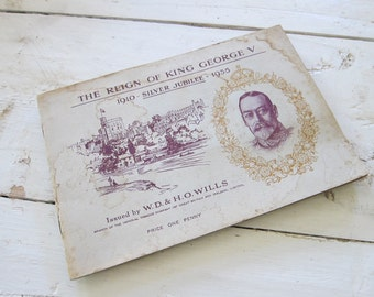 The Reign of King George V Booklet Issued by WD HO Wills
