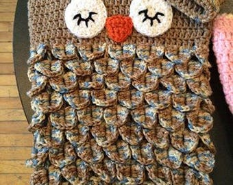 Owl Cocoon and Hat Set