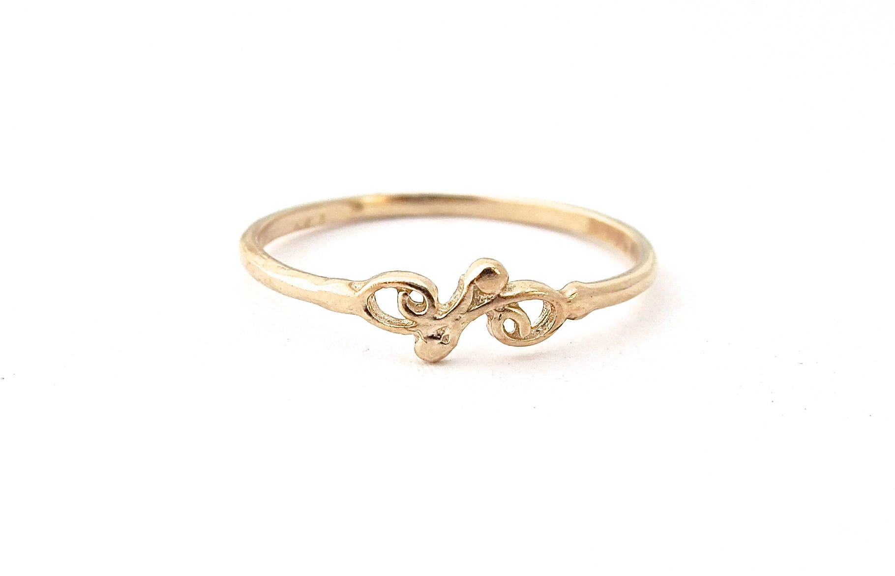 Gold thin ring simple gold ring band everyday ring girls