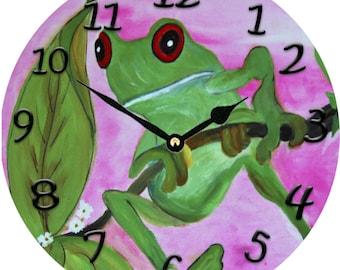 Sassy Frog Wall Clock