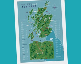 Whisky Map of Scotland (A2 Print)