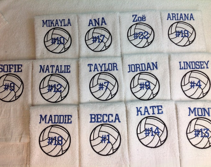Volleyball Gift, Personalized volleyball towel, sport towel, monogram towel, volleyball, volleyball team towels