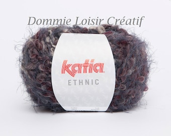 Wool Katia ETHNIC 62 Garnet color