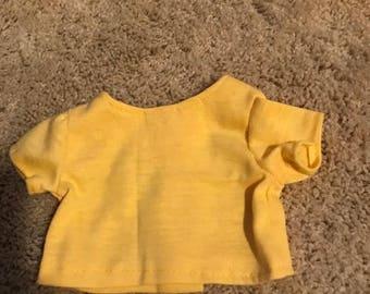"18"" Doll Yellow Short Sleeved T-Shirt"