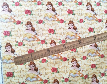 Pretty Princess Bella pattern soft Cotton fabric 50*108 cm 1/2 yard