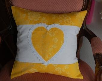 Beautiful Cushion cover 40/40 ticking heart