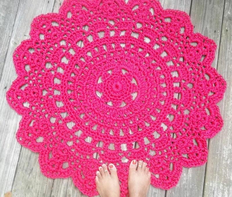 Vistoso Round Crochet Rug Pattern Patrón - Manta de Tejer Patrón de ...