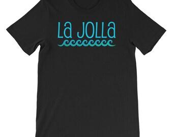La Jolla Waves Beach T-Shirt Travel Summer Surf Souvenir Tee Shirt