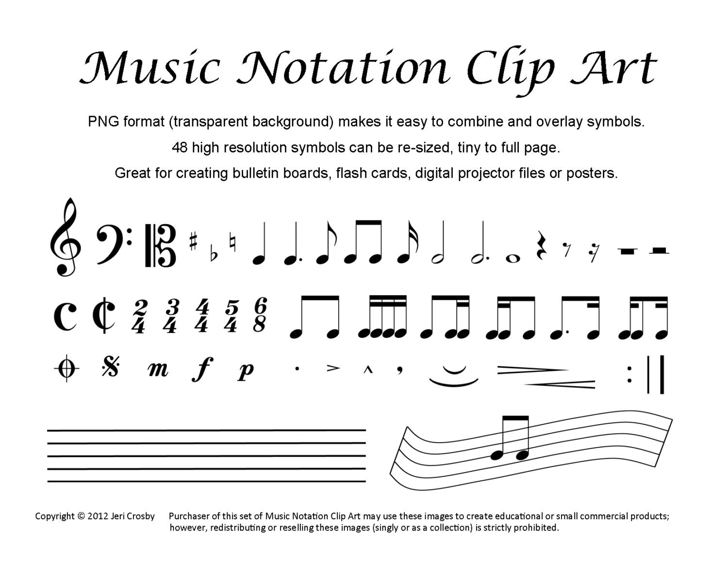 Notation clip art 48 common symbols zoom buycottarizona Choice Image