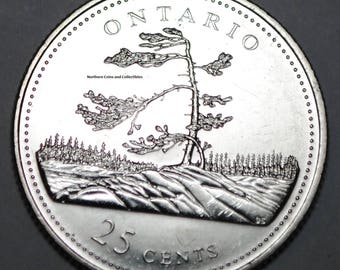 Canada 1992 ON 25 cents Ontario UNC Provincial Canadian Quarter