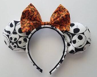 Nightmare Before Christmas Pumpkin King Mickey Ears