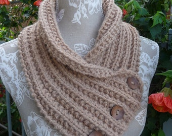 Chunky Pure Wool Neck-warmer - 1671