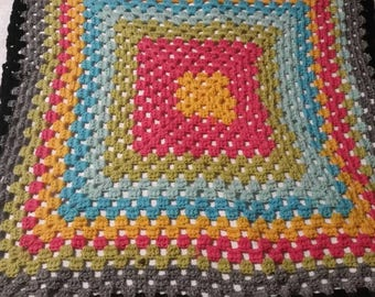Caron Cakes Handmade Lap Blanket wool Blend acrylic Spring