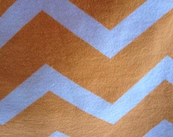 Orange and white chevron fitted crib /toddler sheet