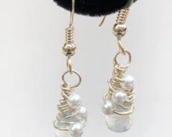 FULL MOONSTONE Earrings