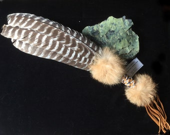 Sacred Prayer Feather Fan ~ Handmade by Wet Foot