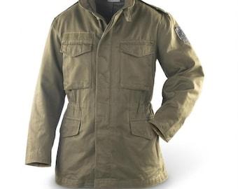 Authentic Austrian army M65 combat parka jacket coat military olive drab