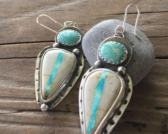 Royston ribbon Boulder Turquoise earrings