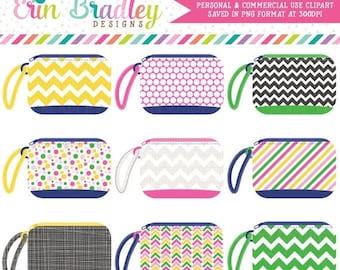 80% OFF SALE Wristlet Purse Digital Clipart Graphics Girls Bag Clip Art Personal & Commercial Use Instant Download