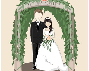 Custom Wedding portraits