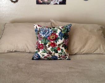 Colorful Floral Print Throw Pillow // Home Decor // Handmade