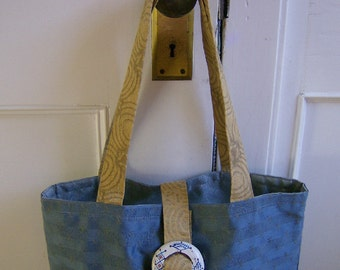 Blue Sky Sunny Golden Yellow Tote Bag