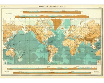 World Map, Map Of The World, World Map Poster, Large World Map,