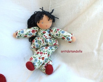 Waldorf doll, 12inch \ 30cm, for all ages, made of natural materials-בובת וולדורף