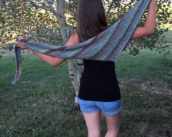 Hobo Stew Scarf -- a loom knit pattern