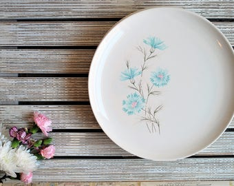 Vintage Taylor Smith and Taylor, Boutonniere Dinner Set, Ever Yours, Made in the USA, Bohemian Flower Plates, Boho Style Decor