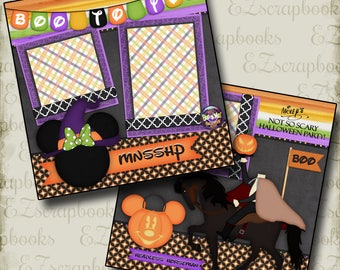 Boo to You Disney Halloween - 2 Premade Scrapbook Pages - EZ Layout 2367