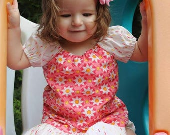 Girls Floral Dress, Girl Peasant Dress, Toddler Peasant Dress, Toddler Clothing, Little Girl Dress, Girls Floral Dress, Girls Clothing
