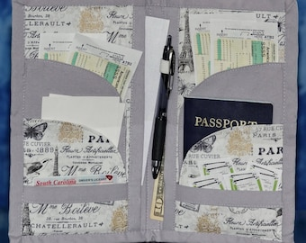 Family Passport Travel Wallet with pockets