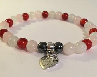 6mm Fertility Aid Pregnancy Aid Crystal Healing Gemstone Bracelet Amelie Hope Crystals Power Bead