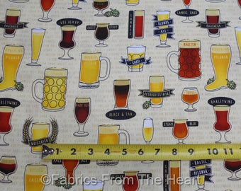 In Doubt Drink Stout Beer Ale Mugs German Wee Heavy BY YARDS QT Cotton Fabric