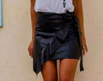Mini Wrap Ruffle Skirt - FIRST ROW
