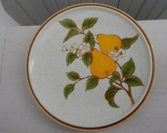 Mikasa Bountiful Pear Blossom Luncheon Plate Dinner Ware - Natural Beauty Replacement Lunch Plate - Made in Japan - Mikasa Pattern C9001