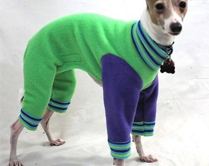 "Dog Pajamas.  ""Green Apple Jams"" - Italian Greyhound and small dog sizes"