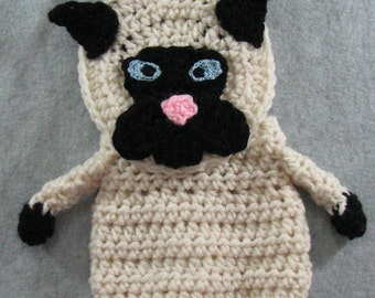 Siamese -  Cat Shaped Purse - Crochet Purse Pattern - Animal Pattern - Cat Pattern - PDF, Digital Download